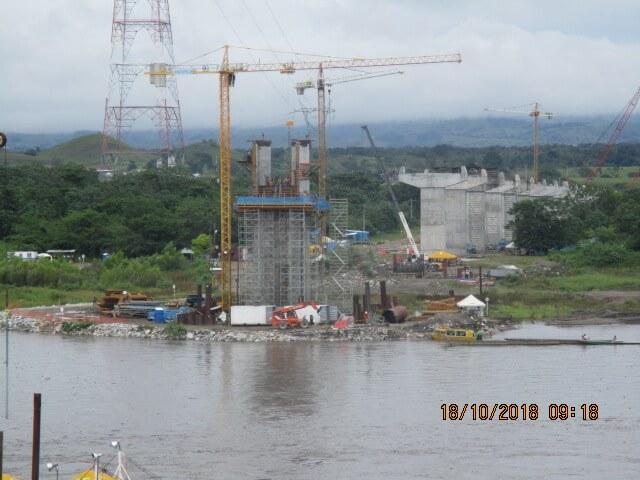Panorámica construcción puente sobre Río magdalena UF4 - Octubre 2018
