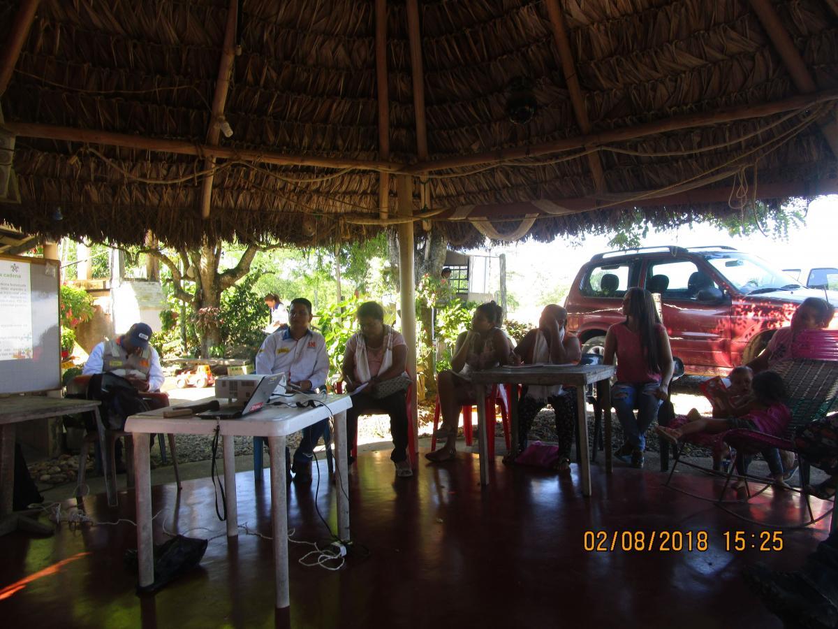 Formación a la comunidad de Manjarrés en cultivo de plantas medicinales y aromáticas en coordinación con el SENA.