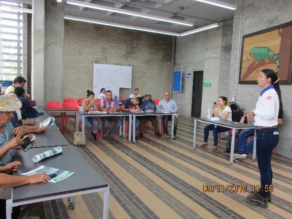 Seguimiento Comité de Control Social de la UF2 en Vegachí - Noviembre 2018